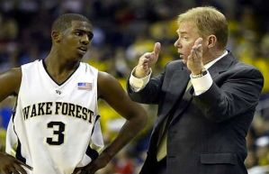 Coach Prosser with Chris Paul